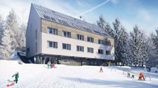 Multi-storey wood-frame hotel in Nová Javorka - Monínec